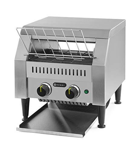 HENDI Durchlauf-Toaster, doppelt, Förderbandtoaster, Kettentoaster, Einstellbar Röstzeit bis zu 3...