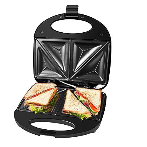 Gotoll Sandwichmaker 750W, Dreieckig Sandwiches Toaster Maker, antihaftbeschichtete Platten,...