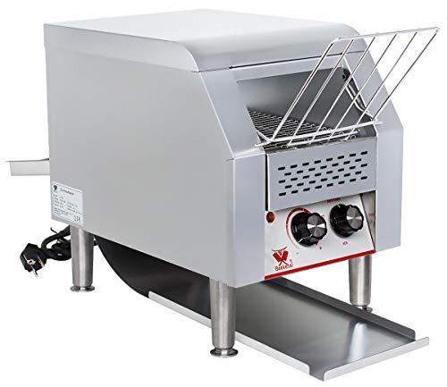 Beeketal 'DTB-1' Profi Gastro Durchlauftoaster aus Edelstahl mit Zugabefach für 1 Toastscheibe,...