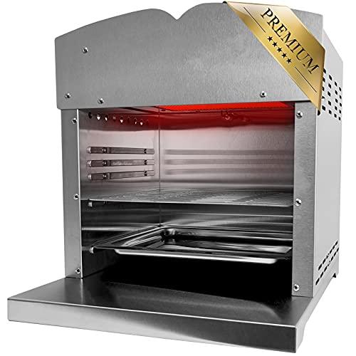 XXL Beef Maker Oberhitzegrill 800°-860° Grad Hochtemperaturgrill Gasgrill mit stufenlos regelarer...